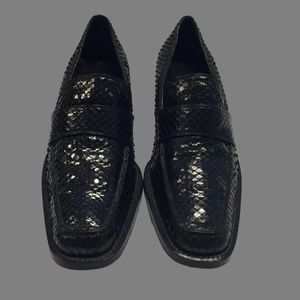 BALDINI Italian Snakeskin and leather shoes size